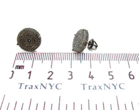 Prong Diamond Silver Earrings 30885 Metal