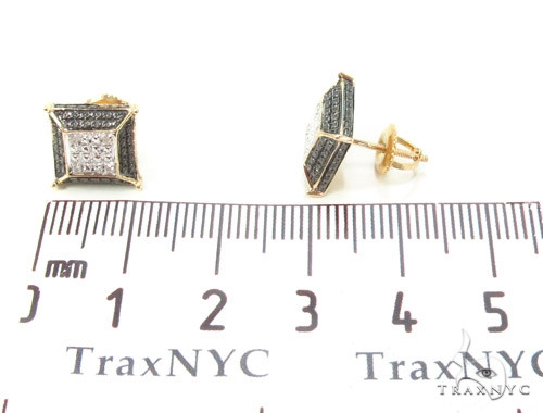 Prong Diamond Silver Earrings 35072 Metal