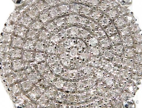 Prong Diamond Silver Earrings 39778 Metal