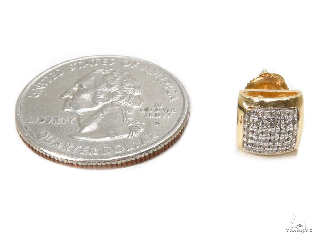Prong Diamond Silver Earrings 40254 Metal