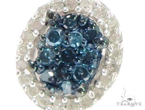 Prong Diamond Silver Earrings 44043 Metal