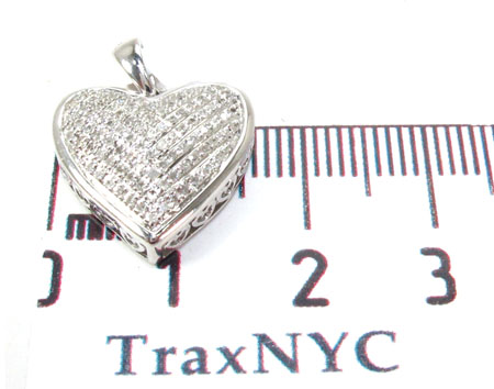 Prong Diamond Silver Pendant 30757 Metal