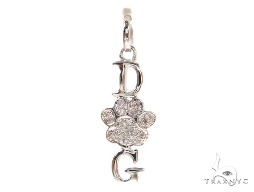 Prong Diamond Silver Pendant 37329 Metal