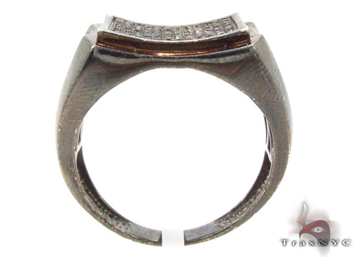 Prong Diamond Silver Ring 34532 Metal