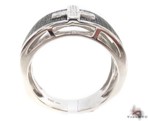 Prong Diamond Silver Ring 34542 Metal