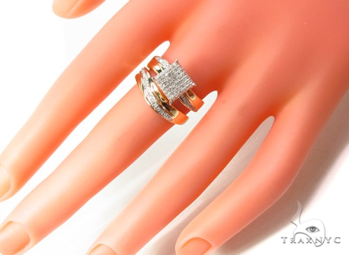 Prong Diamond Silver Ring 35062 Engagement