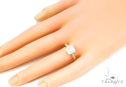 Prong Diamond Silver Ring 37326 Anniversary/Fashion