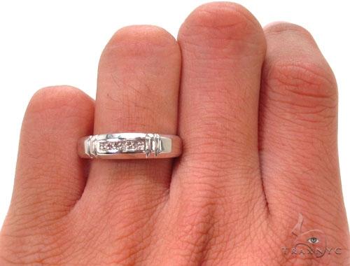 Prong Diamond Silver Ring Set 36832 Anniversary/Fashion