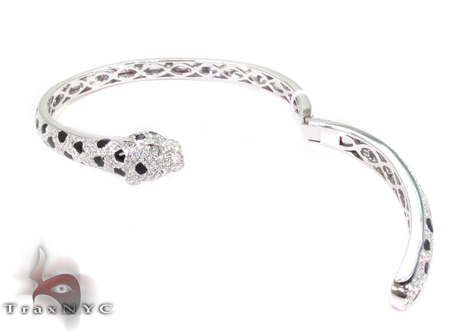 Prong Diamond Snake Blacelet 32087 Bangle