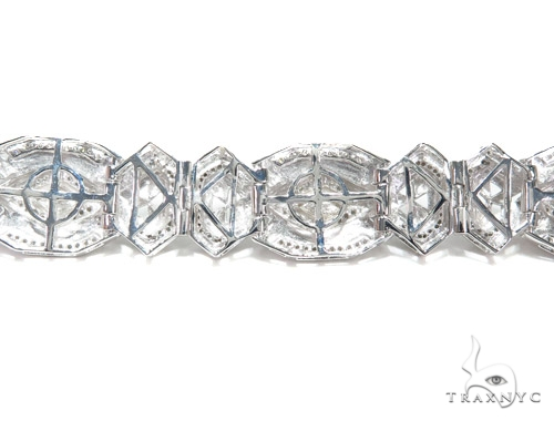 Prong Diamond Sterling Silver Bracelet 41781 Silver