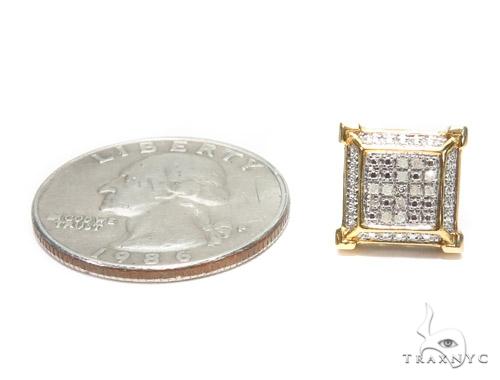 Prong Diamond Sterling Silver Earrings 41597 Metal