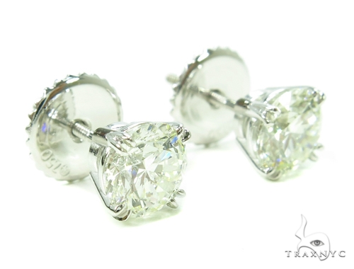 Prong Diamond Stud Earrings 37835 Style