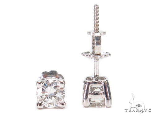 Prong Diamond Stud Earrings 43163 Style
