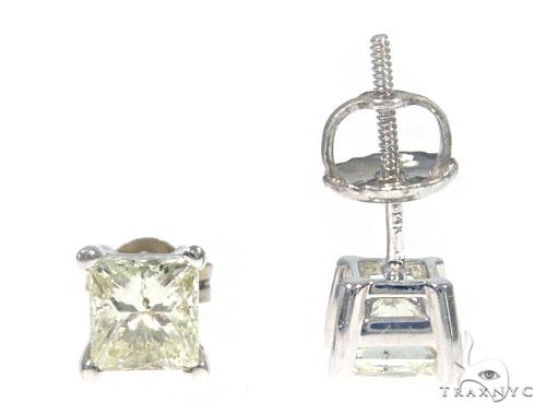 Prong Diamond Stud Earrings 45056 Stone