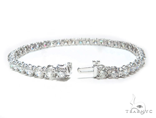 Prong Diamond Tennis Bracelet 41761 Tennis