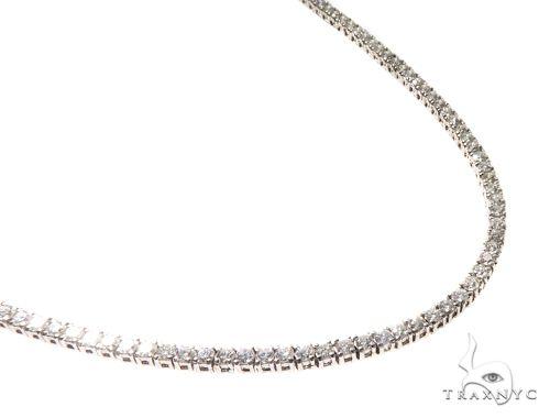 Prong Diamond Tennis Chain 31 Inches 4mm 53.5 Grams Diamond