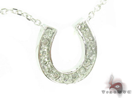 Prong Diamond Horseshoe Necklace 34095 Diamond