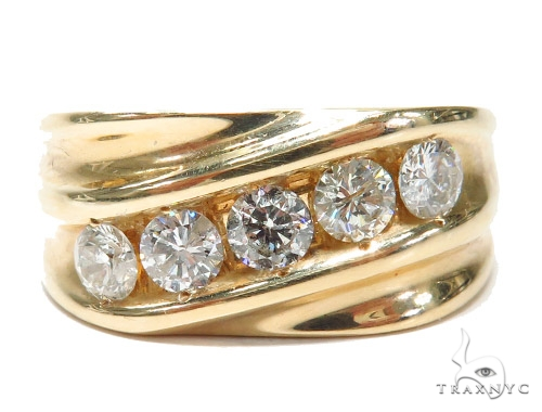 Prong Diamond Wedding Band 41722 Style