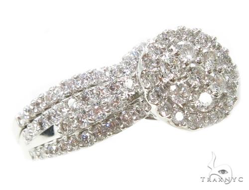 Prong Diamond Wedding Ring Set 39540 Engagement