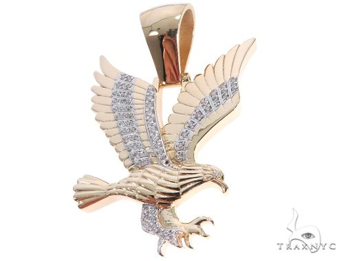 Prong Diamond Wild Eagle Pendant Metal