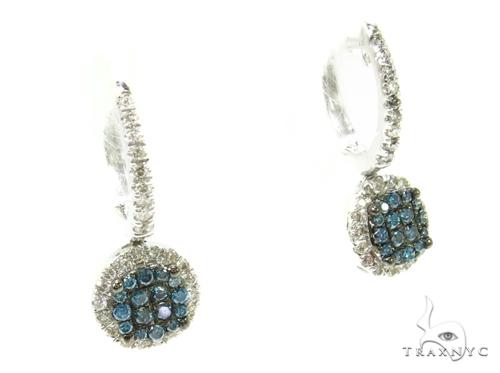 Prong Diamond hoop Earrings 36960 Style