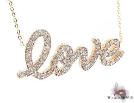 Prong Diamond Love Necklace Diamond