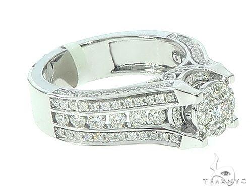 14K Gold Diamond Cluster Halo Engagement Ring Engagement