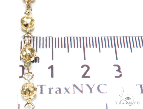 Prong Gold Rosary Chain 30 Inches 5mm 17.40 Grams 42485 Gold