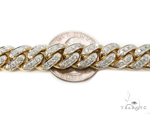 Pave Diamond Miami Cuban Link Chain 30 Inches 12mm 232.9 Grams 40448 Diamond