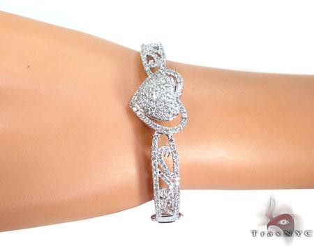 Pure Heart Diamond Bangle Bracelet Diamond