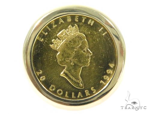 Queen Elizabeth Gold Coin Ring 45398 Metal
