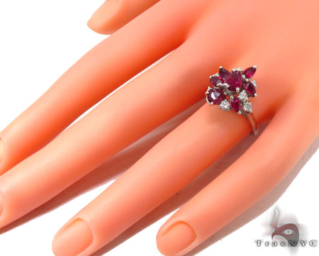 Race of Grapes Ruby Ring Anniversary/Fashion