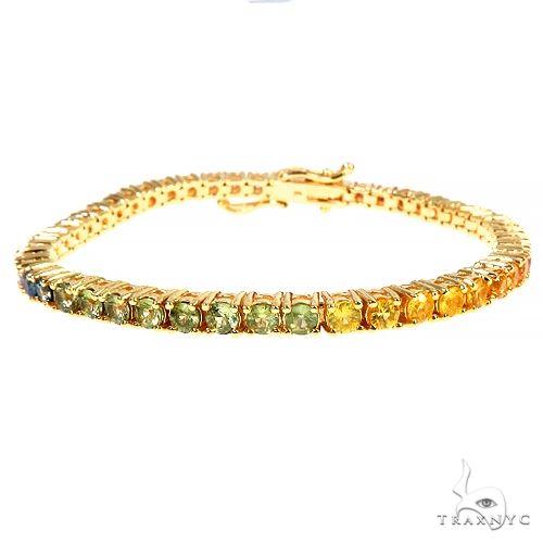 Rainbow Sapphire Tennis Bracelet 66892 Multicolor SAPPHIRE
