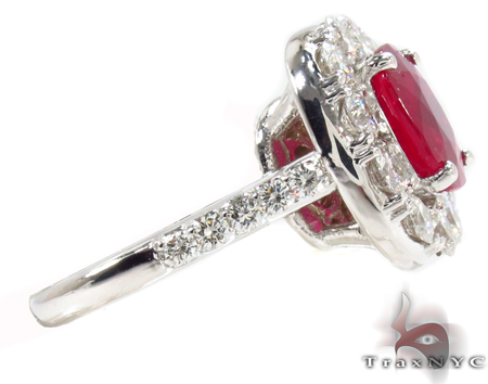 Red Blood Ruby Ring Anniversary/Fashion