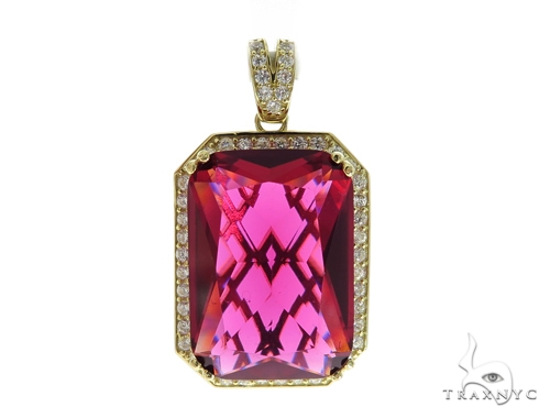Red Gold Pendant and Franco Chain Set 49583 Style