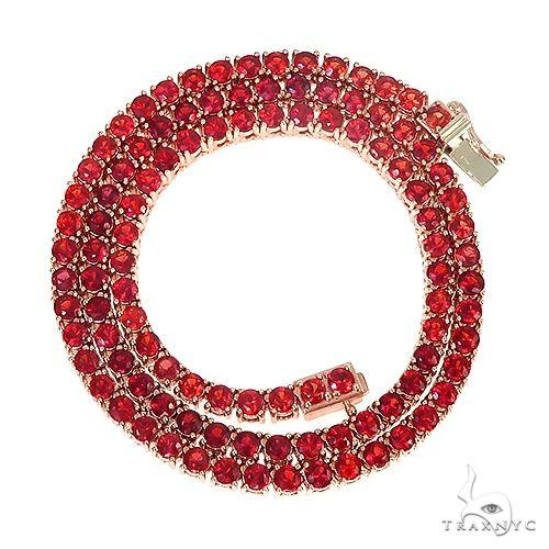 Red Sapphire Tennis Chain 66863 Men Specials