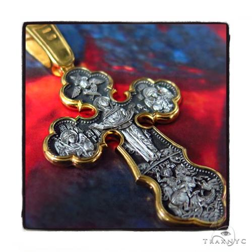 Reversible Classic Silver Cross Crucifix Silver