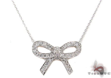 Ribbon Necklace 1 Diamond