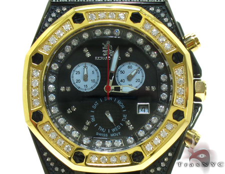 Richard & Co Yellow Steel & Diamond Watch RC-3018 Richard & Co