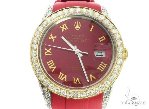 18K Yellow Gold & Stainless Steel Rolex DateJust Watch 63728 Diamond Rolex Watch Collection