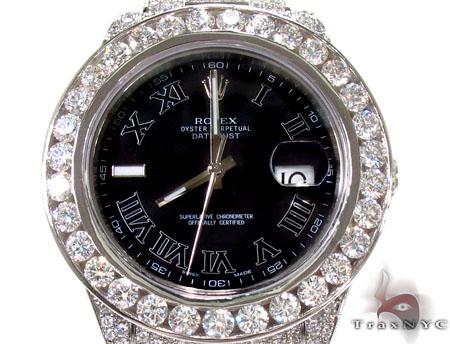 Diamond Rolex Datejust II White Gold and Steel 116334 bkrio Diamond Rolex Watch Collection
