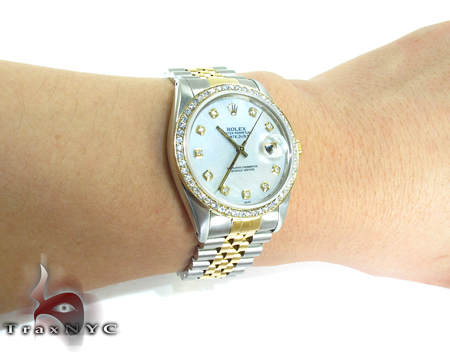 Rolex Datejust Steel and Yellow Gold 16243 Diamond Rolex Watch Collection