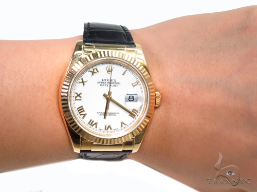 Rolex Datejust Yellow Gold 116138 40970 Diamond Rolex Watch Collection
