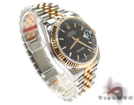 Rolex Datejust Yellow Gold and Steel 116233 Diamond Rolex Watch Collection