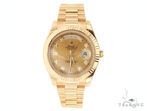 Rolex Day Date II President Yellow Gold 218238 Diamond Rolex Watch Collection