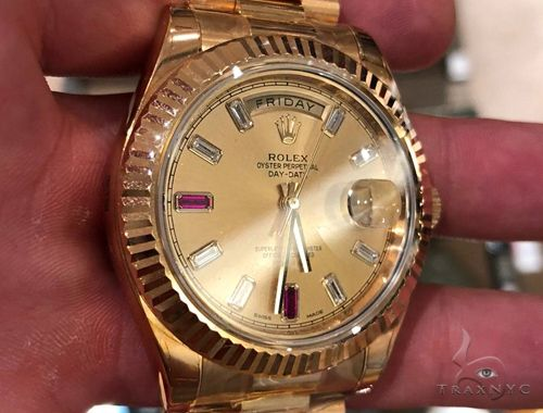 Rolex Day Date II President. 41mm  'Ruby' 64732 Diamond Rolex Watch Collection