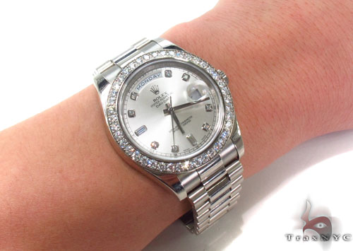 Rolex Day-Date II White Gold 218239 Diamond Rolex Watch Collection