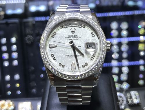 Rolex Day Date White Gold All Original Diamond Watch 63863 Diamond Rolex Watch Collection