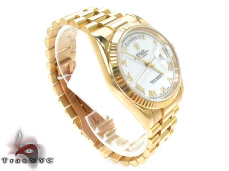 Rolex Yellow Gold Day Date Watch 118238 Diamond Rolex Watch Collection