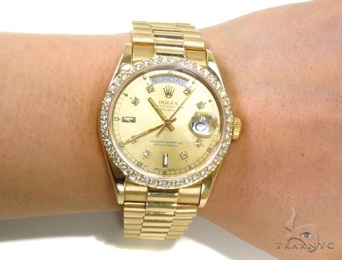 Rolex Day-Date Yellow Gold Watch 36mm Diamond Rolex Watch Collection